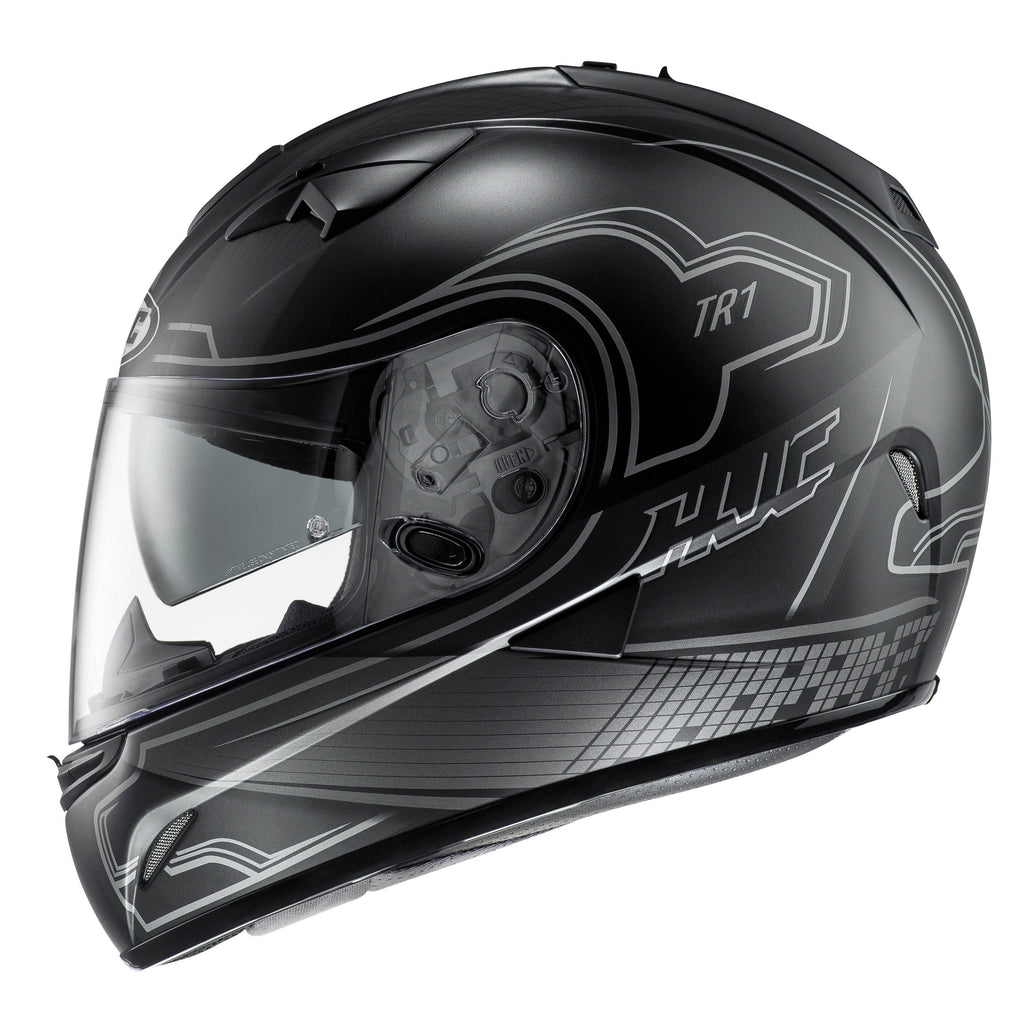 tr-1-helmet Matt Black/Silver - SunstateMC