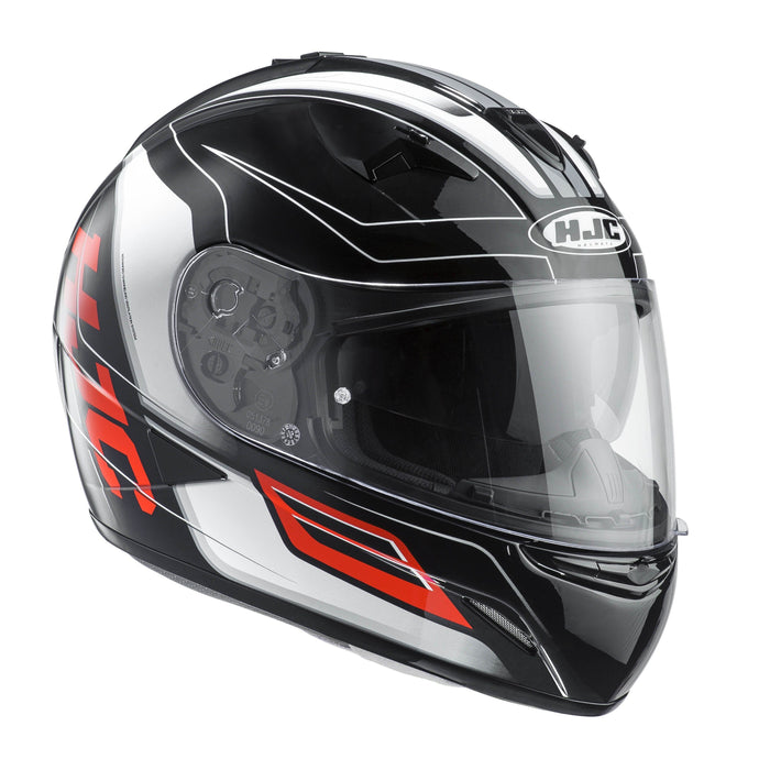 tr-1-helmet Black/White/Orange - SunstateMC