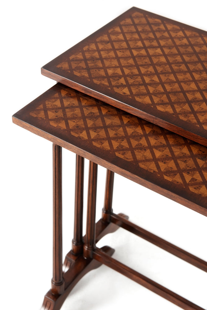 Parquetry Nest of Table