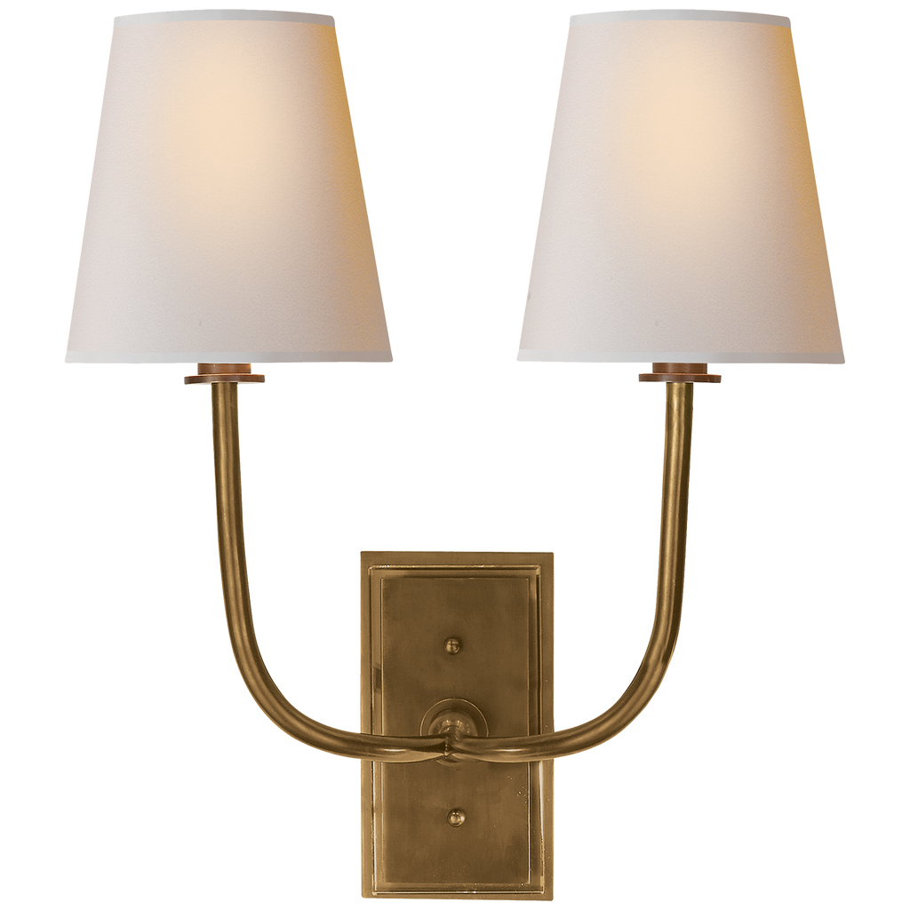 Visual Comfort & Co. | Hulton Double Sconce | Laura Kincade Furniture | Sydney Australia
