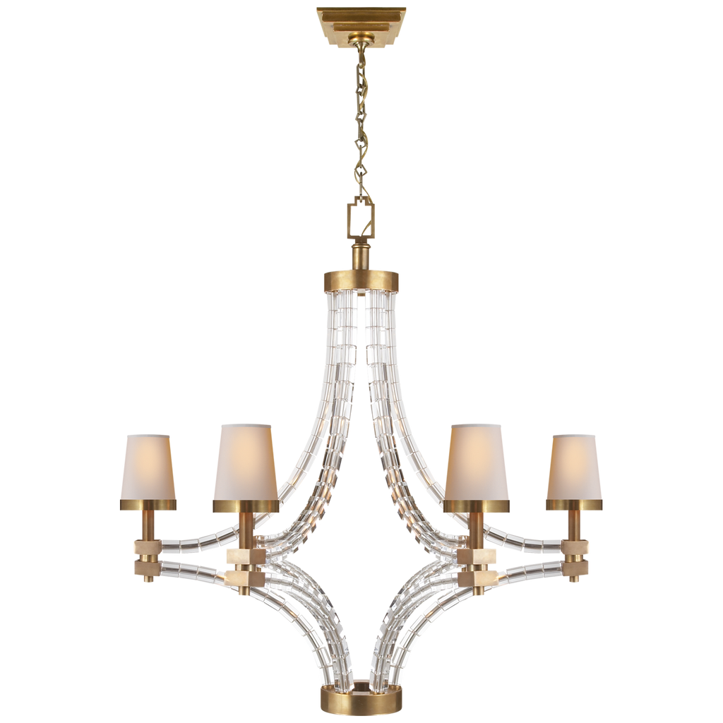 Visual Comfort & Co. | Crystal Cube Large Chandelier | Laura Kincade Furniture | Sydney Australia