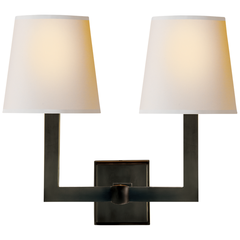 Visual Comfort & Co. | Square Tube Double Sconce | Laura Kincade Furniture | Sydney Australia