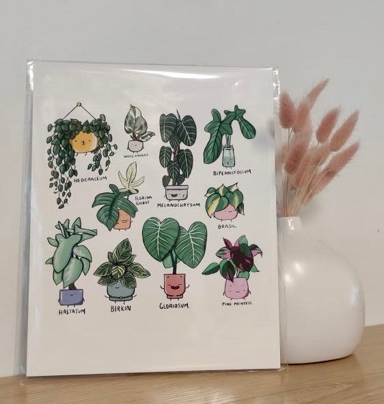 Philodendron Family Print