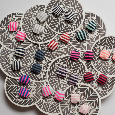 Striped Rock Earrings