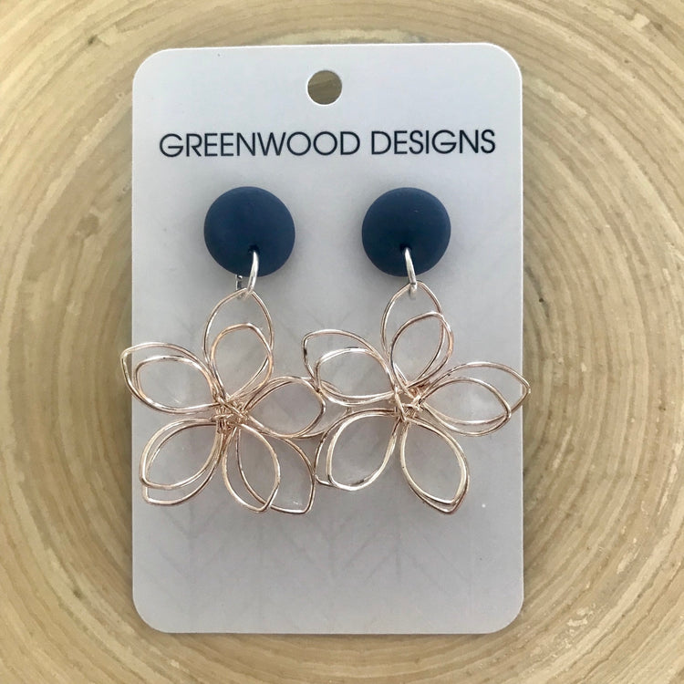 Gold Flower Earrings - 8 colours