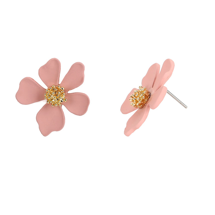 Small Flower Earrings Pink