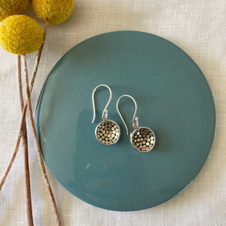 Sterling Silver Dome Earrings 027