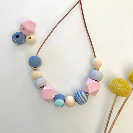 Ladies Mixup Necklace Pastel 004