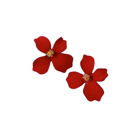 Small Flower Earrings Red II