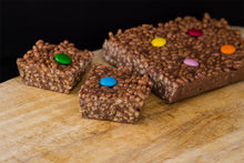 "Load image into Gallery viewer, Chocolate Crispie Traybake (RETAIL) 7""x5"""