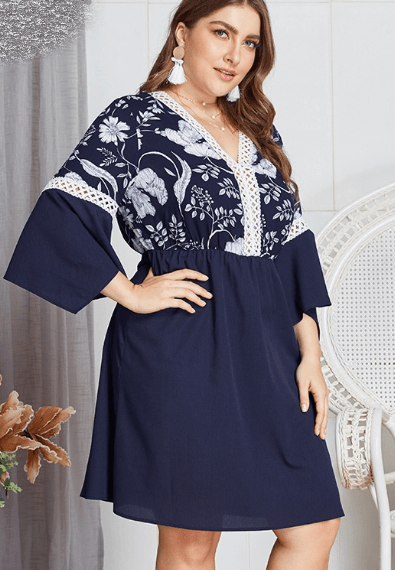 Robe chic grande taille