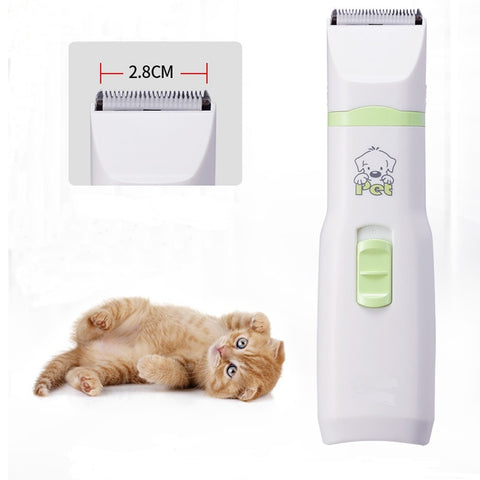 New 2 in 1 Pet Dog Cat Hair Trimmer Paw Nail Grinder Grooming Clippers Nail Cutter Hair Cutting