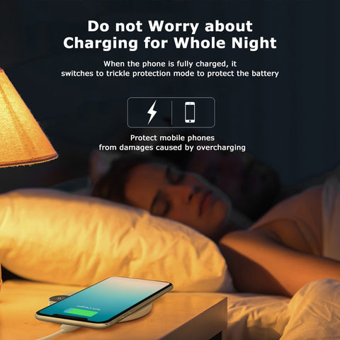 Wireless Max Fast Charger Digital LED Display Charging Pad Multiple Charging Protections Fast Steadily for Xiaomi Samsung PhoneXS
