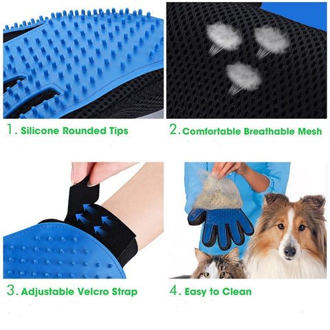 Glove For Cats Cat Grooming Pet Dog Hair Deshedding Brush Comb Glove For Pet Dog Finger Cleaning Massage Glove For Animal