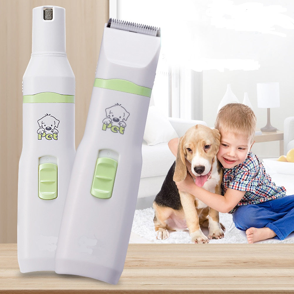 2 in 1 Pet Nail Grinder with Hair Trimmer