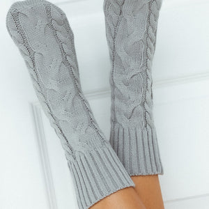 Grey Cosy Knitted Socks