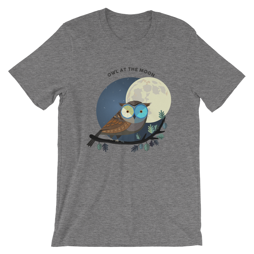 OWL AT THE MOON/Unisex T-Shirt