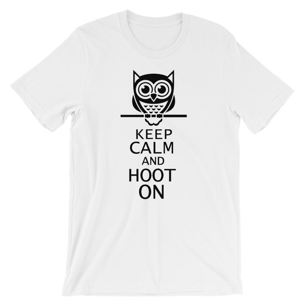 KEEP CALM AND HOOT Unisex T-Shirt