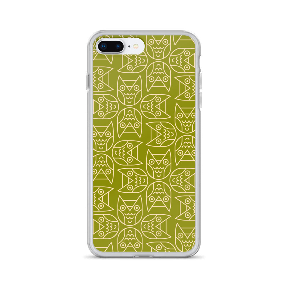 JAPANESE OWL PRINT - iPhone Case