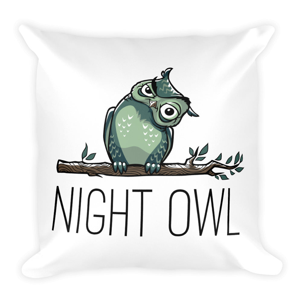 Two Hoots Square Pillow