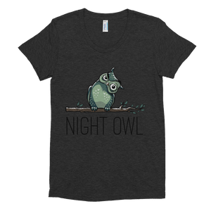 NIGHT OWL/WOMEN'S TRI-BLEND T-SHIRT