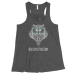 WHO LOVES YOU BABY/WOMEN'S FLOWY RACERBACK TANK