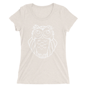 Seriously White - Women's Tri-Blend T-shirt (10 Colors Available)