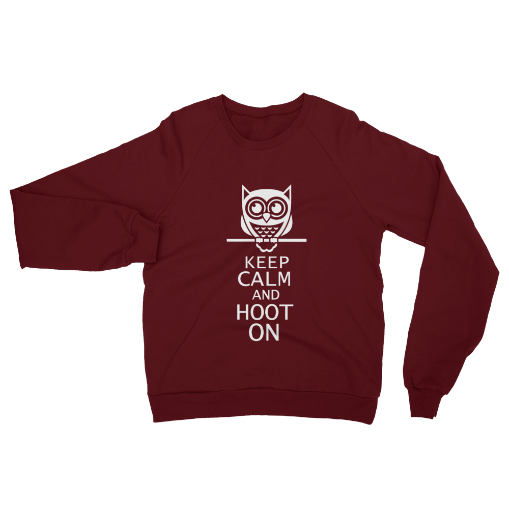 HOOT ON Unisex California Fleece Raglan Sweatshirt