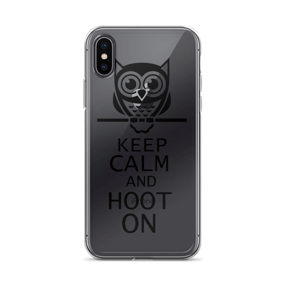 KEEP CALM AND HOOT iPhone Case