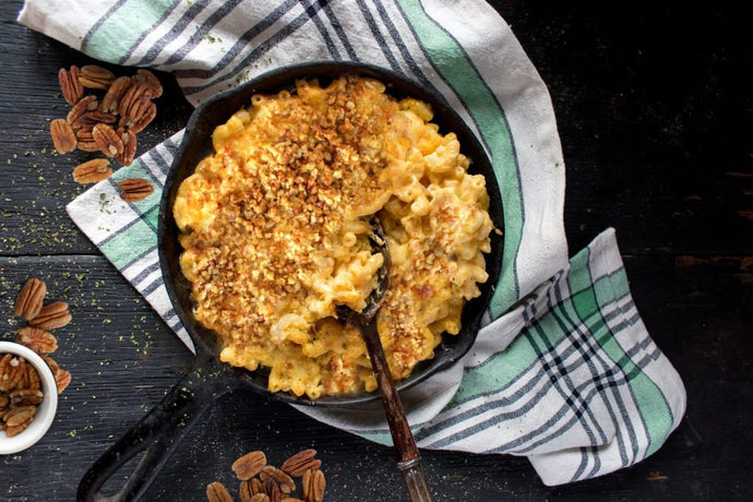 Mac and Cheese with Pecan Breadcrumbs