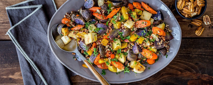 Roasted Root Vegetables with Pecans