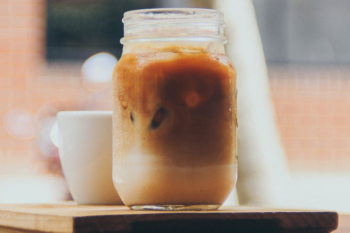 Iced Pecan Coffee with Roasted Pecan Syrup