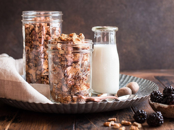 Pecan, Ginger and Dried Apple Granola