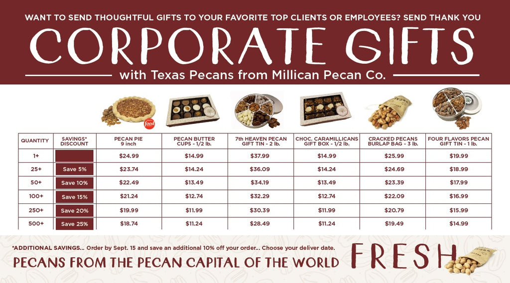 Millican Pecan Corporate Business Gifts