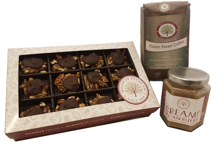 Signature Pecan Products Butter Pecan Coffee Pecan Butter Caramel Pecan Candies