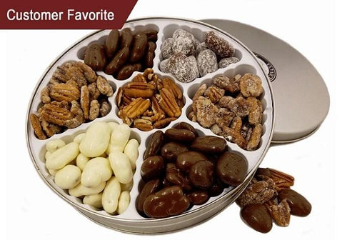Buy Texas Pecan Gift Tin - Flavored Pecans For Sale