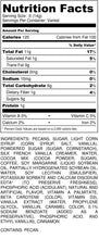 Load image into Gallery viewer, Cappuccino Pecans - Bag - nutrition label