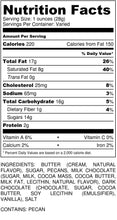 Load image into Gallery viewer, Dark Chocolate Pecan Toffee - Gift Tin - nutrition label