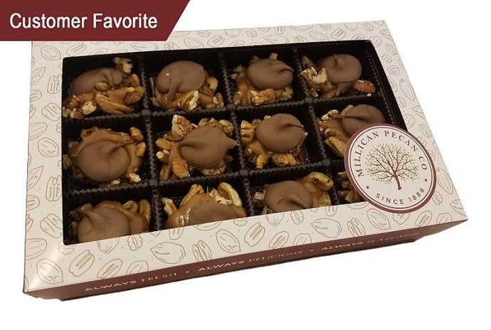Milk Chocolate Turtle Caramillicans - Gift Box 1 Pound