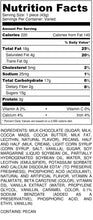 Load image into Gallery viewer, Milk Chocolate Caramillicans - nutrition label
