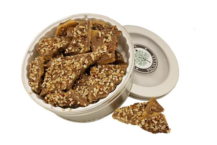Milk Chocolate Pecan Toffee - Gift Tin