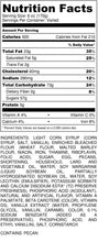 Load image into Gallery viewer, Texas Pecan Pie - nutrition label