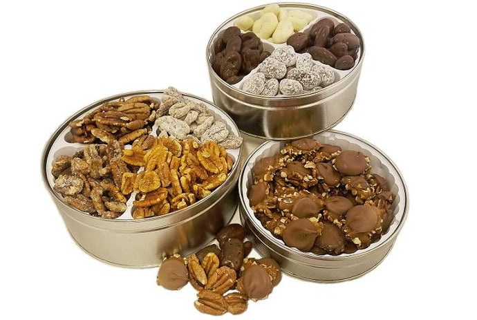 Tower of Treats Pecans - Gift Tins