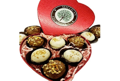 Pecan Truffle Duo - Heart Gift Box