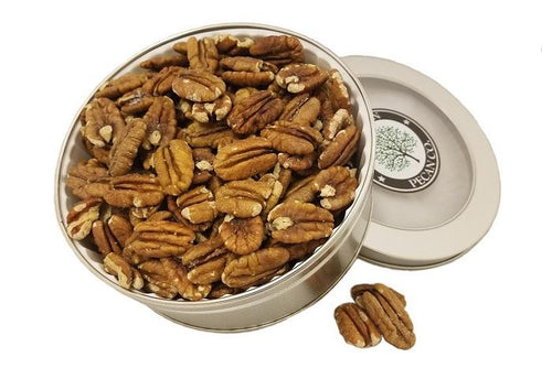 Salted and Roasted (Toasted) Pecans - Gift Tin