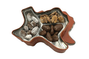 Texas Longhorn Gift Tin - combination of pecans