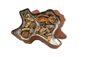 Texas Longhorn Gift Tin - flavored pecans
