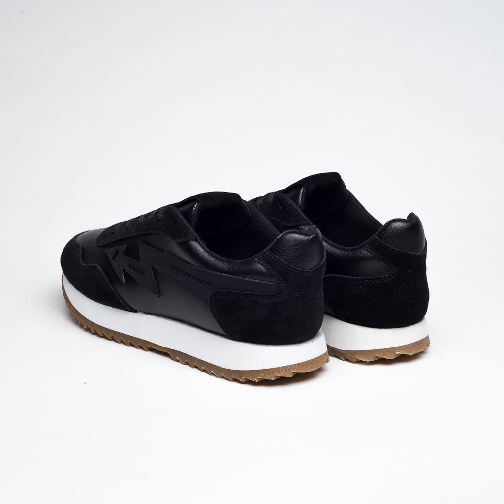 BLACK SUEDE  LAB/089 NATURAL RUBBER SNEAKERS