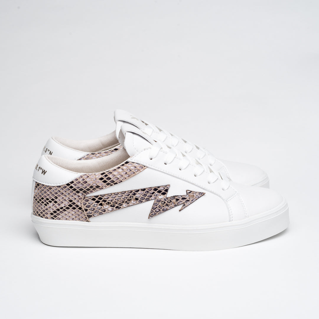 WHITE & ANIMAL PRINT FOXY SNEAKERS