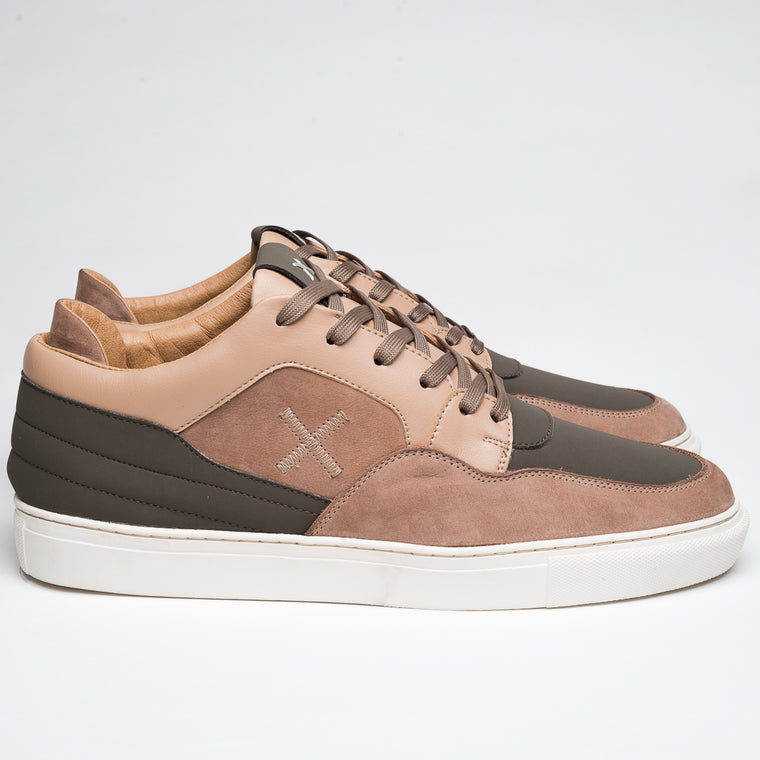 BEIGE & MILITARY  BUNKERS SNEAKERS